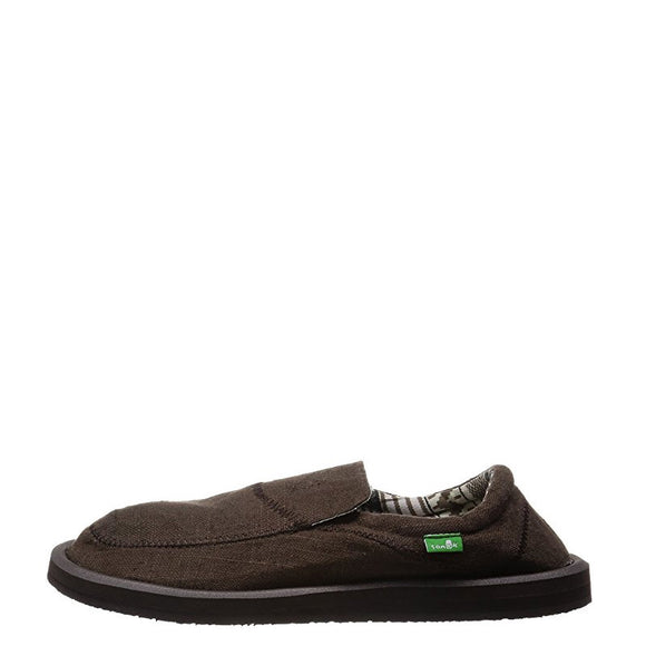 Sanuk Men's Chiba Stitched - Dark Brown SMF10628