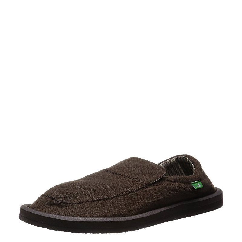Sanuk Men's Chiba Stitched - Dark Brown SMF10628 - ShoeShackOnline