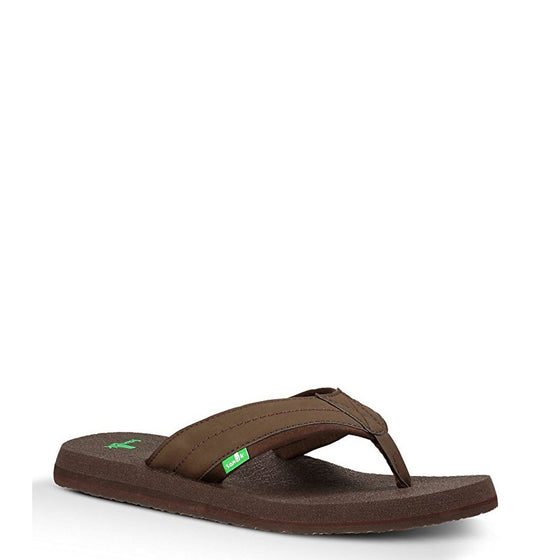 Sanuk Men's Beer Cozy 2 Sandal - Dark Brown SMS10868 - ShoeShackOnline