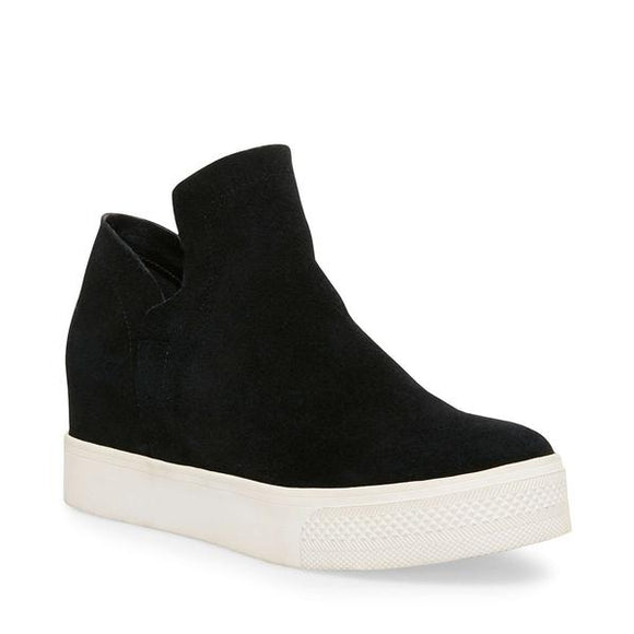 Steve Madden Women's Wrangle Wedge Sneaker - Black Suede