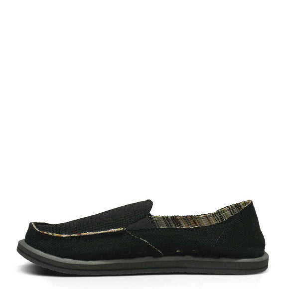 Sanuk Women's Donna Hemp - Black SWF1160
