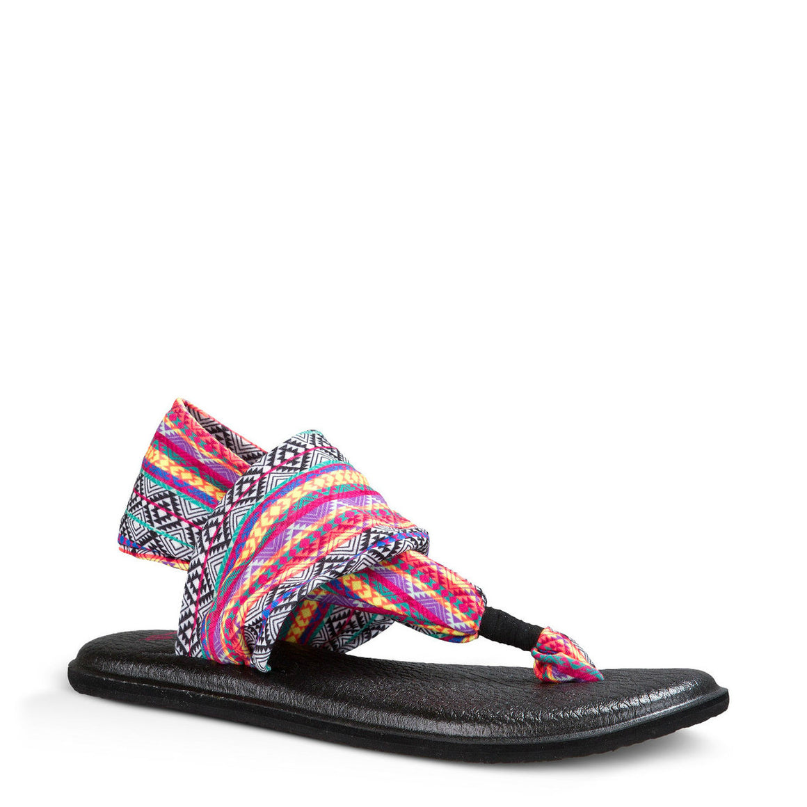 Sanuk Women's Yoga Sling 2 - Magenta/Multi Tribal Stripe SWS10535
