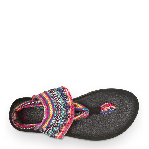 Sanuk Women's Yoga Sling 2 - Magenta/Multi Tribal Stripe SWS10535 - ShoeShackOnline