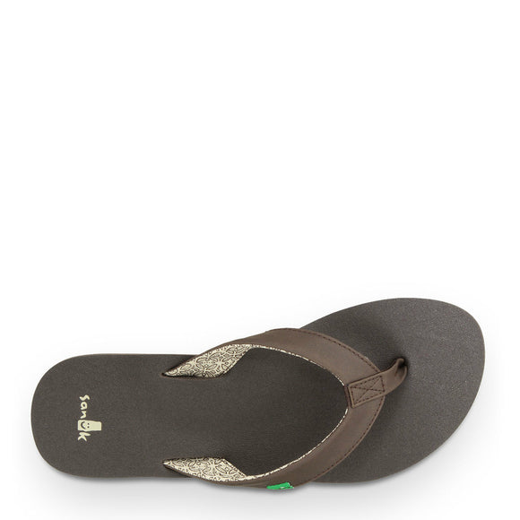 Sanuk Women's Yoga Zen Flip Flops - Brown SWS10572