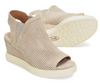Sofft Women's Basima Suede Wedge Sandal - Moonstone Grey SF00269