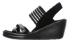 Skechers Women's Rumblers Modern Maze Wedge Sandal - Black 31587