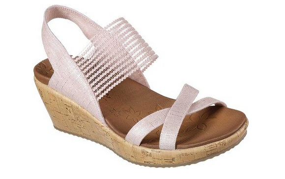 Skechers Women's Beverlee High Tea Wedge Sandal 31723