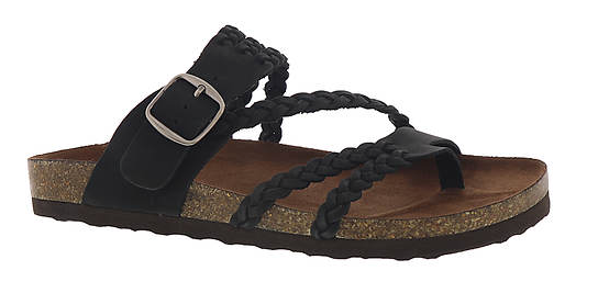 White Mountain Women's Hayleigh Sandal Black W26784