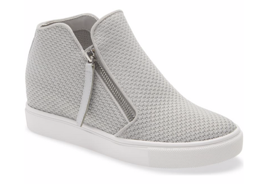 Steve Madden Women's Click Hidden Wedge High Top Sneaker