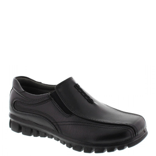 Deer Stags Boy's Stadium Slip On Dress Shoe - Black