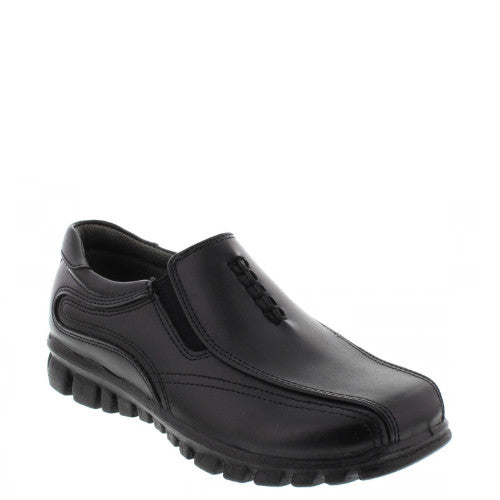 Deer Stags Boy's Stadium Slip On Dress Shoe - Black - ShoeShackOnline