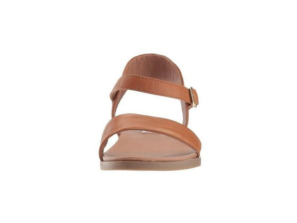 Steve Madden Women's Dina Leather Sandal - Tan DINA02S1 - ShoeShackOnline