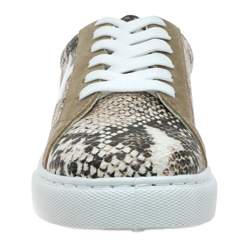 Pierre Dumas Women's Fast-6 Star Fashion Sneaker Taupe 81509-646