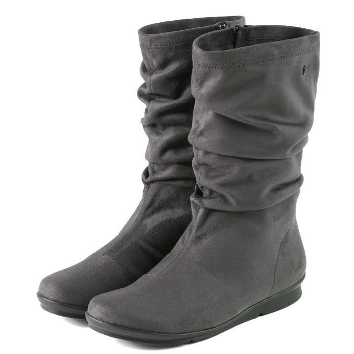Bussola Women's Coimbra Flexible Mid-High Boots - Charcoal BW1560 - ShoeShackOnline