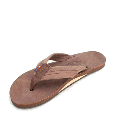 Rainbow Women's Single Layer Premier Leather Flip Flops - Expresso 301ALTS - ShoeShackOnline