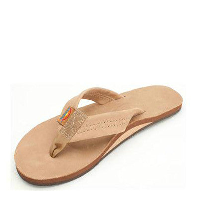 Rainbow Women's Single Layer Premier Leather Flip Flops - Sierra Brown 301ALTS - ShoeShackOnline