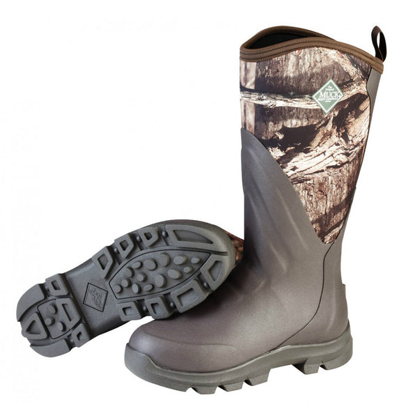Muck Boots Men's Woody Grit All-Terrain Hunting Boot - Brown/Mossy Oak WDC-INFT