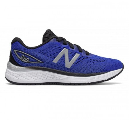 New Balance Kid's 880v9 Tennis Shoe - UV Blue/Black YP880LS - ShoeShackOnline