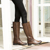 Bussola Women's Trapani Elastic Knee-High Boots - Luggage BW1591