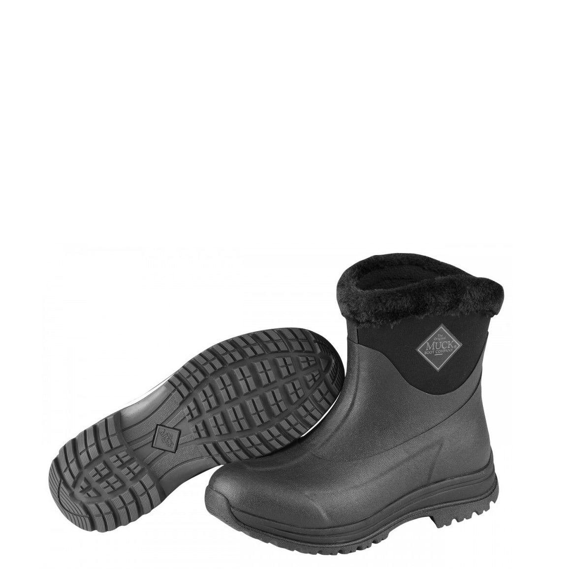Muck Boots Women's Arctic Apres Slip-On Boot - Black/Charcoal AP8-000