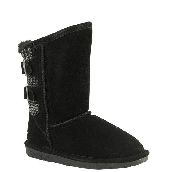 Bearpaw Kid's Boshie Boot - Black 1669Y-011 - ShoeShackOnline