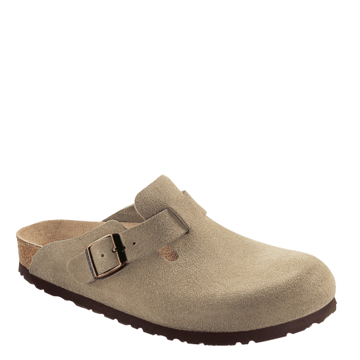 Birkenstock Boston - Taupe | Suede Leather 060461 - ShoeShackOnline