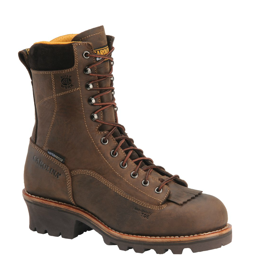 "Carolina Men's 8"" Waterproof Lace-to-Toe Logger Boot - CA7022 - ShoeShackOnline"