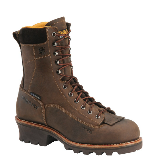 "Carolina Men's 8"" Waterproof Composite Toe Logger Boot - CA7522 - ShoeShackOnline"