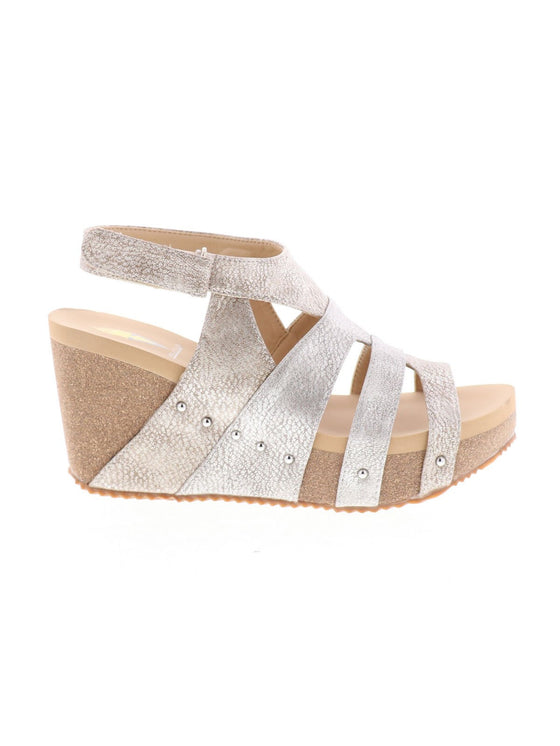 Very Volatile Women's Cait Multi Strap Wedge Sandal - ShoeShackOnline