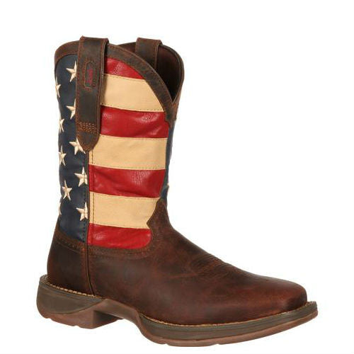 Durango Men's - Rebel Patriotic Pull-On Western Flag Boot - ShoeShackOnline