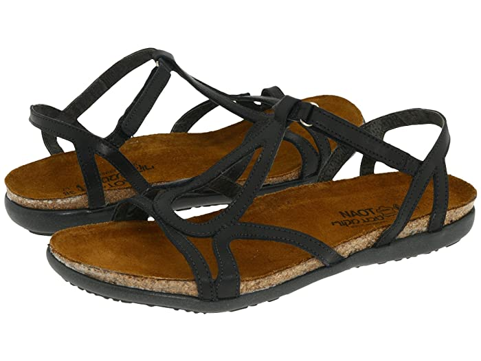 Naot Women's Dorith Sandal - Black Raven Leather 04710 - ShoeShackOnline