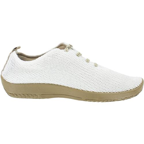 "Arcopedico Women's LS Knit ""Shocks"" Comfort Shoe 1151 White/Beige"