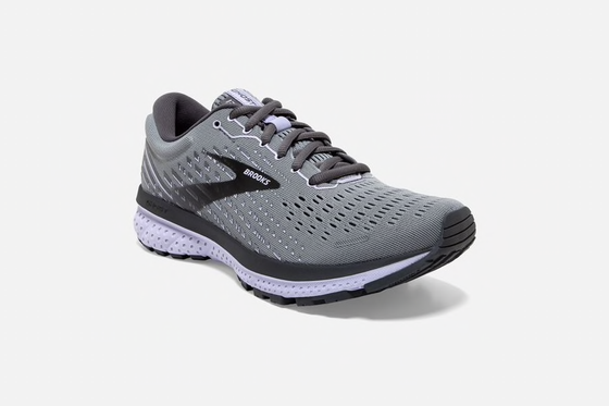 Brooks Ghost 13 Women's Running Shoe Grey/Purple