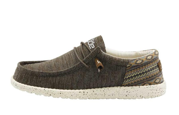 Hey Dude Men's Wally Funk Casual Shoe - Brown Aztec 110411538