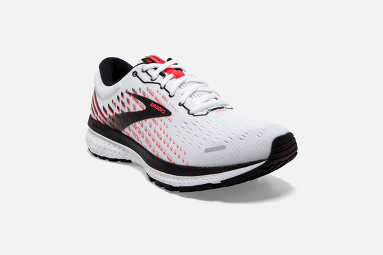 Brooks Ghost 13 Women's Running Shoe White/Pink/Black