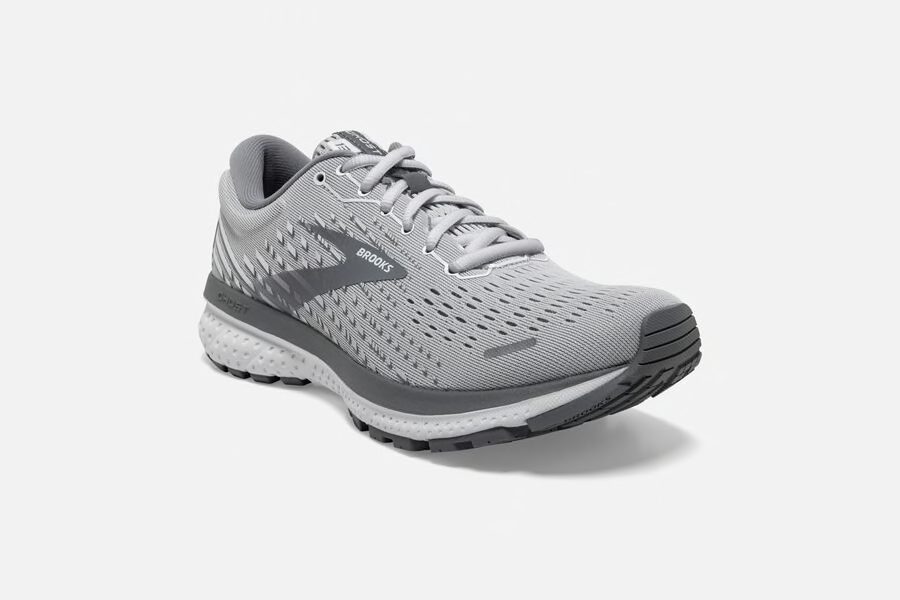 Brooks Ghost 13 Women's Running Shoe Alloy/White