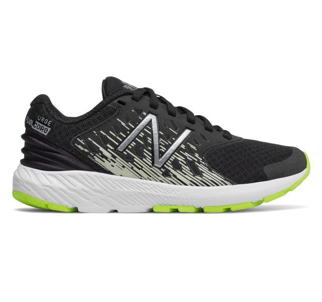 New Balance Kid's Urge Tennis Shoe - Black/Lime KJURGNGY - ShoeShackOnline