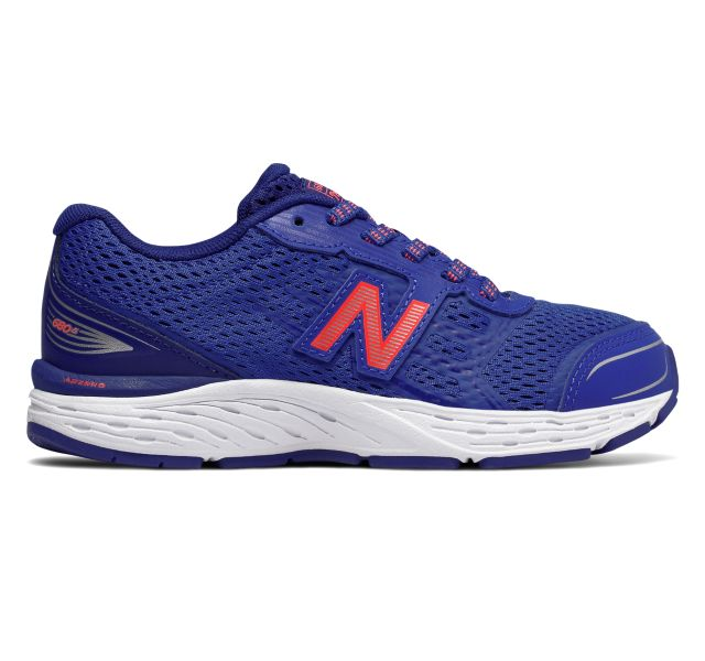 New Balance Kid's 680v5 Tennis Shoe - Pacific/Dynamite KR680PDY - ShoeShackOnline