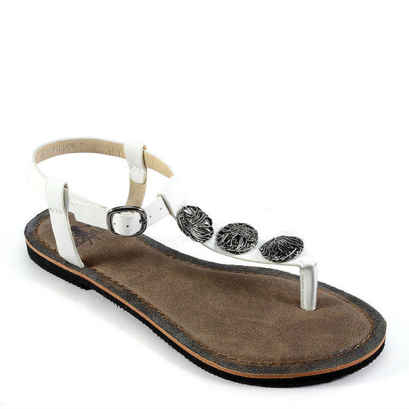 Corkys Women's Medallion | White 40-3220 - ShoeShackOnline