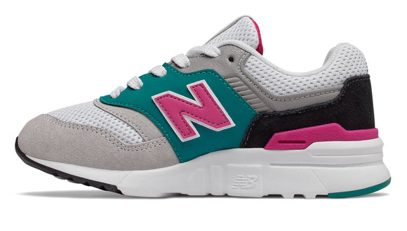 New Balance Kid's 997H Tennis Shoe - Amazonite/Carnival PR997HZH - ShoeShackOnline