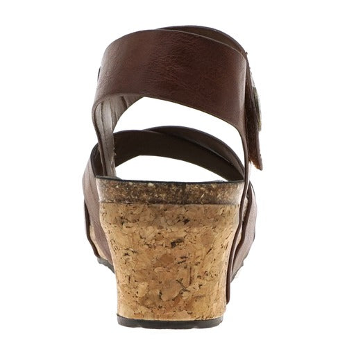 Pierre Dumas Women's Chantal-4 Wedge Sandal Whiskey 22374-135