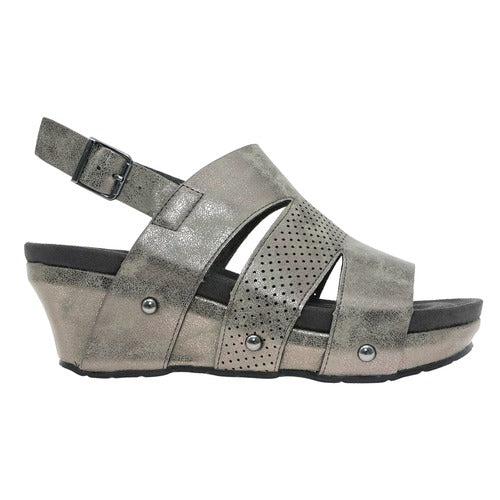 Pierre Dumas Women's Whisper-1 Wedge Pewter 22388-211