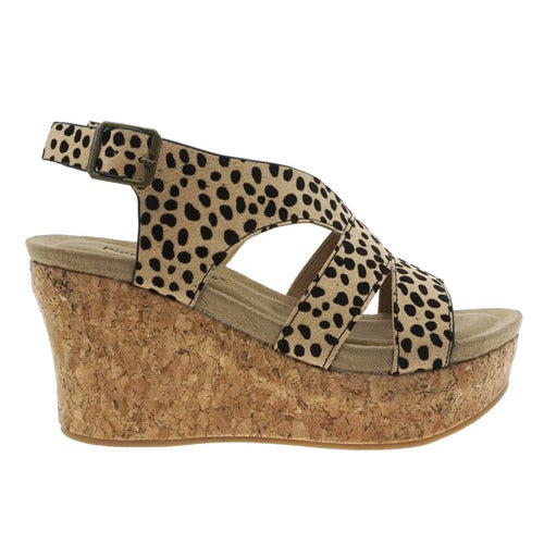 Pierre Dumas Women's Sweep-2 Wedge Sandal Cheetah Print 22632-450