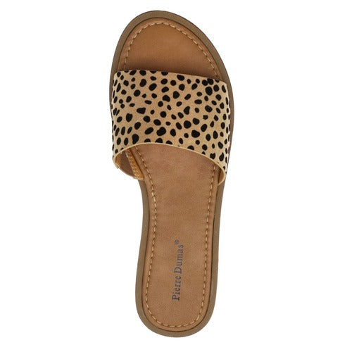 Pierre Dumas Women's Lizzie-5 Slip On Sandal Cheetah Print 21101-450
