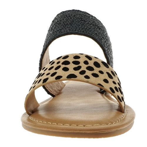 Pierre Dumas Women's Star-2 Slip On Sandals Cheetah Print 21096-450