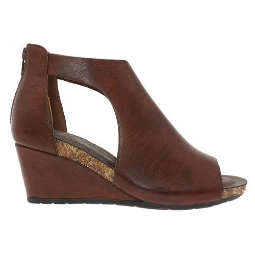 Pierre Dumas Women's Podium-5 Peep Toe Wedge Whiskey  22361-135