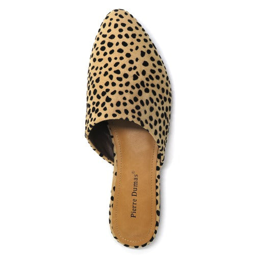 Pierre Dumas Women's Kenny-1 Slip On Mule Cheetah Print 81288-450