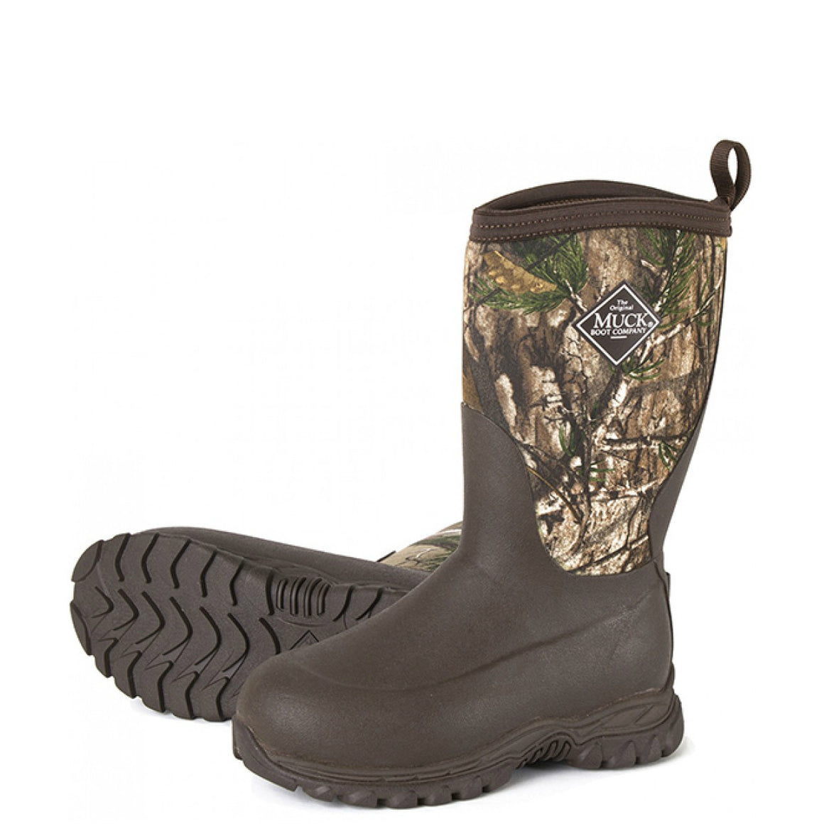 Muck Boot Kid's Rugged II Performance Outdoor Sport Boot - Brown/Realtree Xtra RG2-RTX