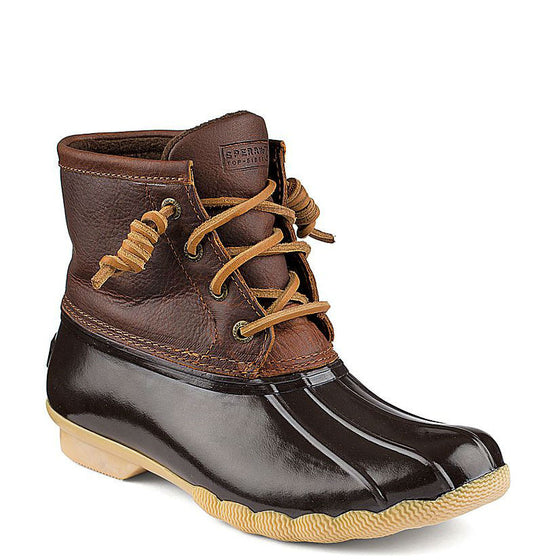 Sperry Women's Saltwater Duck Boot - Tan/Dark Brown STS91176
