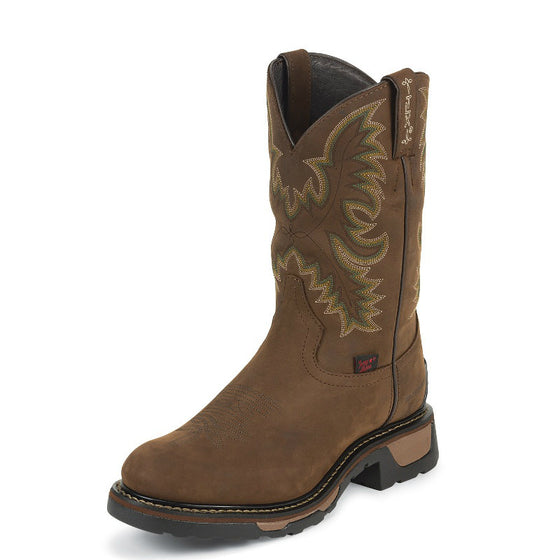 Tony Lama Men's Cheyenne TLX Waterproof Western Work Boots - Tan TW1018